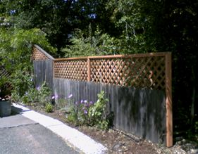 How To Install Lattice Fence
