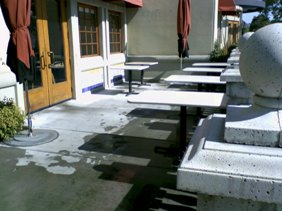 Commercial Patio Pressure Wash