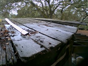 Roof in terrible condition